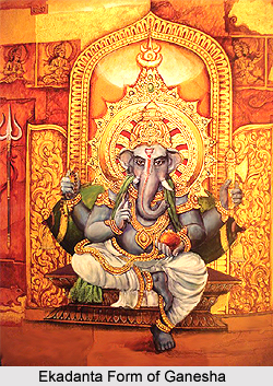 Ekadanta Form Of Lord Ganesha