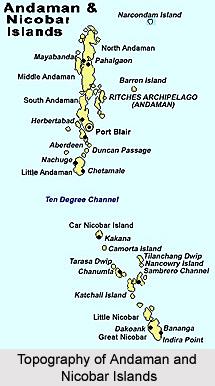 Topography of Andaman and Nicobar Islands