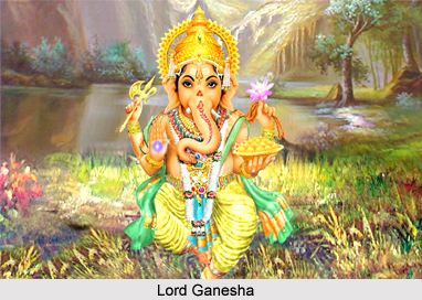Worship of Lord Ganesha by Gods