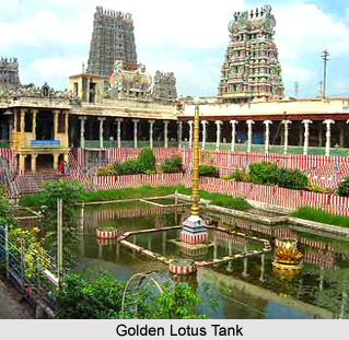 Golden Lotus Tank, Madurai, Tamil Nadu