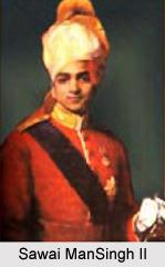 Sawai ManSingh II as the Maharaja of Jaipur