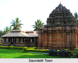 Saundatti town, Karnataka, South India