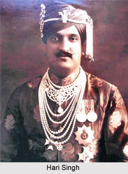 Hari Singh , Ruler of Jammu & Kashmir