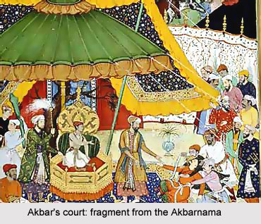 Painting in the court of Akbar