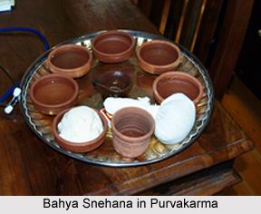 Bahya Snehana in Purvakarma, Ayurveda