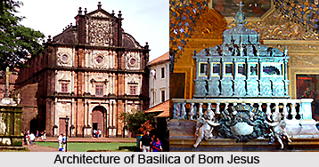 Architecture of Basilica of Bom Jesus, Goa