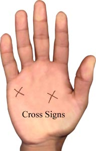 Cross Signs , Palmistry