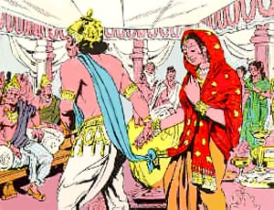 Wedding of Devayani, Daughter Of Sukra and King Yayati