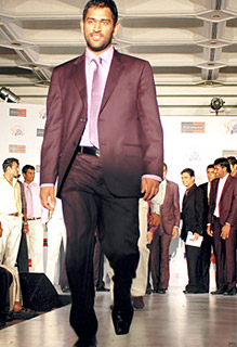 MS Dhoni walking on the ramp - Impact of Cricket on Indian Society