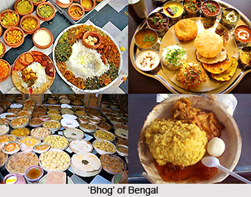 Food in West Bengal Offered as Propitiation