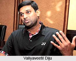 Valiyaveetil Diju, Indian Badminton Player