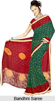 Bandhani  Sarees, Sarees of West India