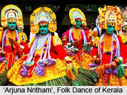 Arjuna Nritham, Folk Dance of Kerala