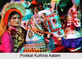 Poikkal Kuthirai Aatam Dance, Tamil Nadu