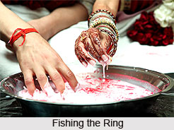 Fishing the Ring, traditional game, Indian wedding