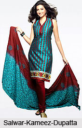 Salwar-Kameez-Dupatta, Indian Costume