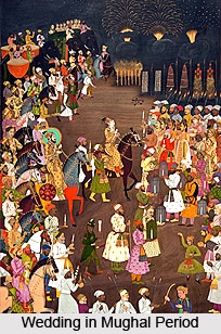 Wedding in Mughal Period, Indian wedding