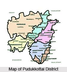 Pudukkottai dt map