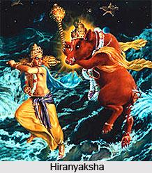 Hiranyaksha, Brother of Hiranyakasipu
