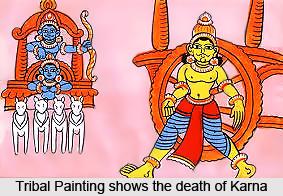 Meeting of Kunti and Karna, Mahabharata
