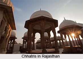 Chhatris in Rajasthan