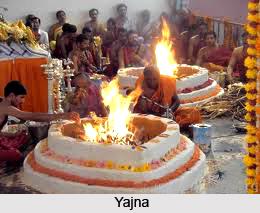 Religious rites and ceremonies in Hindu temples, India