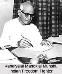 Kanaiyalal Maneklal Munshi, Indian Freedom Fighter