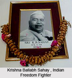 Krishna Ballabh Sahay , Indian Freedom Fighter