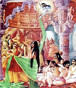 Mahabharata by Veda Vyasa sketch the persuasion of Draupadi on the husbands to overthrow the Kauravas