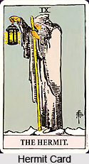 Hermit Card , Tarot Card