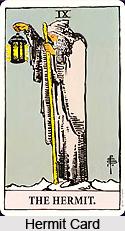 Hermit Card , Tarot Card