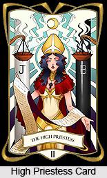 High Priestess Card , Tarot Card