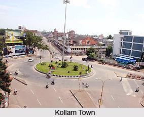 Kollam Town in Kollam District, Kerala