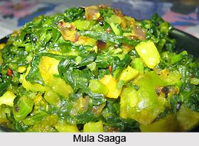 Mula Saaga, Oriya Recipe