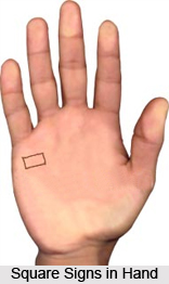 Square Signs in Hand, Palmistry