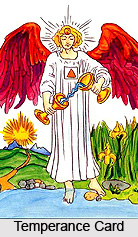 Temperance Card , Tarot Card