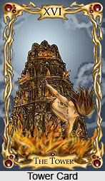 Tower Card , Tarot Card