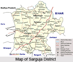 Geography of Surguja District