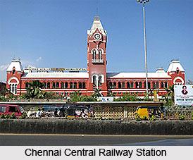 Chennai Central Railway Station , Tamil Nadu
