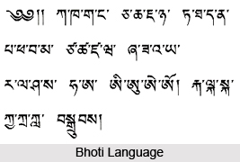 Bhoti Language in India