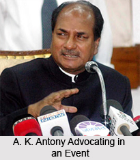 A.K. Antony, Indian Defence Minister