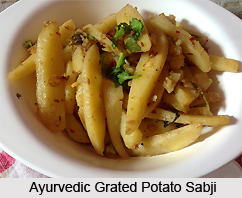 Ayurvedic Grated Potato Sabji