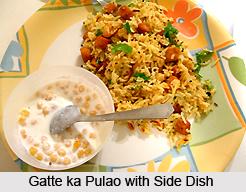 Gatte Ka Pulao, Rajasthani Cuisine