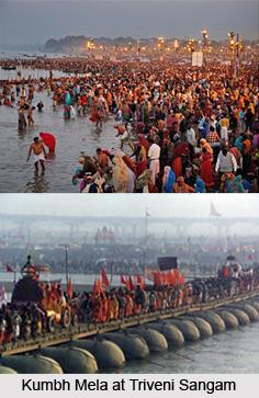Triveni Sangam, Indian Pilgrimage Spot, Allahabad, Uttar Pradesh