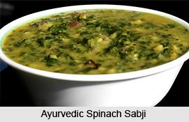 Ayurvedic Spinach Sabji