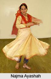 Najma Ayashah,  Indian Dancer