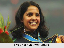 Preeja Sreedharan , Indian Athlete