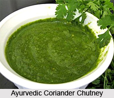 Ayurvedic Coriander chutney