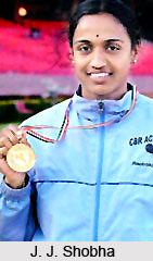 J.J. Shobha, Indian Athlete