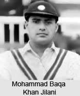 Mohammad Baqa Khan Jilani, Indian Cricket Player